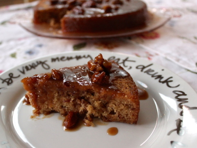 sticky toffee pudding with bourbon sauce