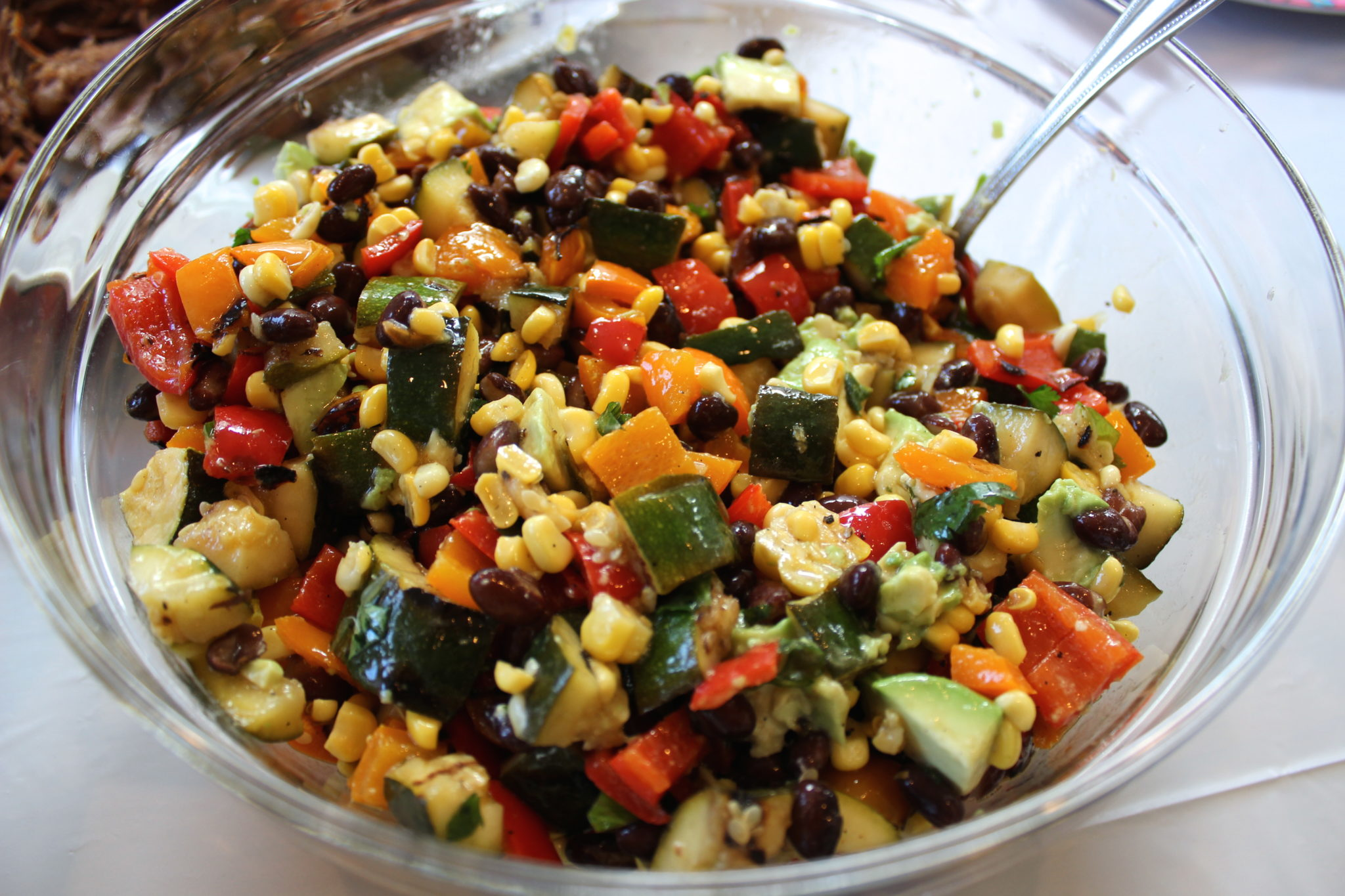 Grilled vegetable salad with avocado (Serves 6-8. Adapted from the ...