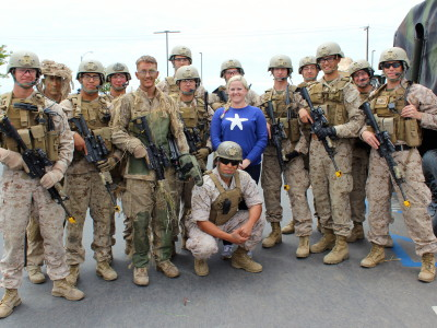 with recon Marines