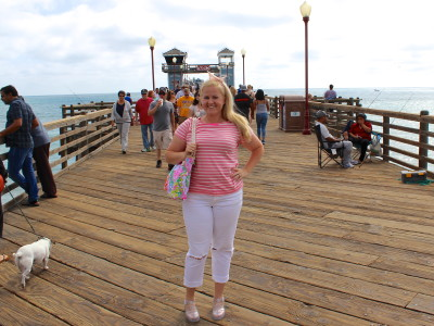 pink on the pier