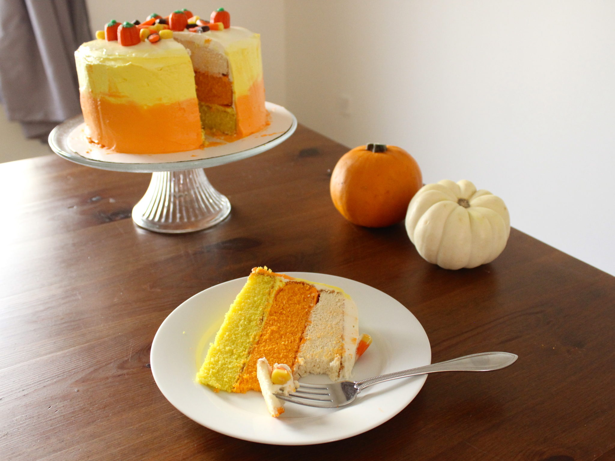 candy corn cake for Halloween
