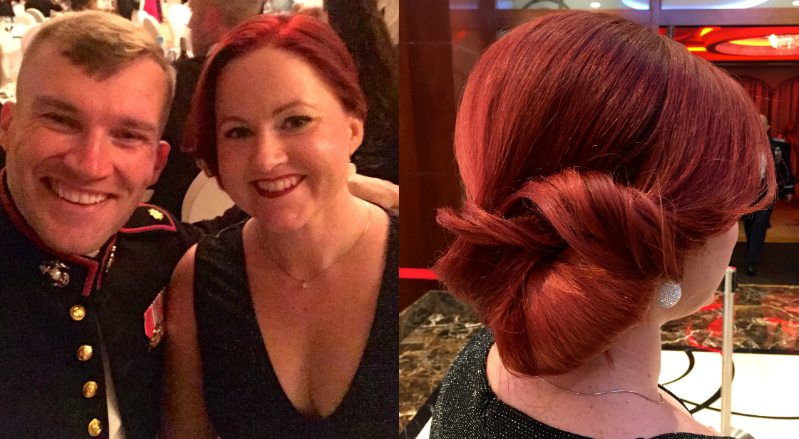 red-updo