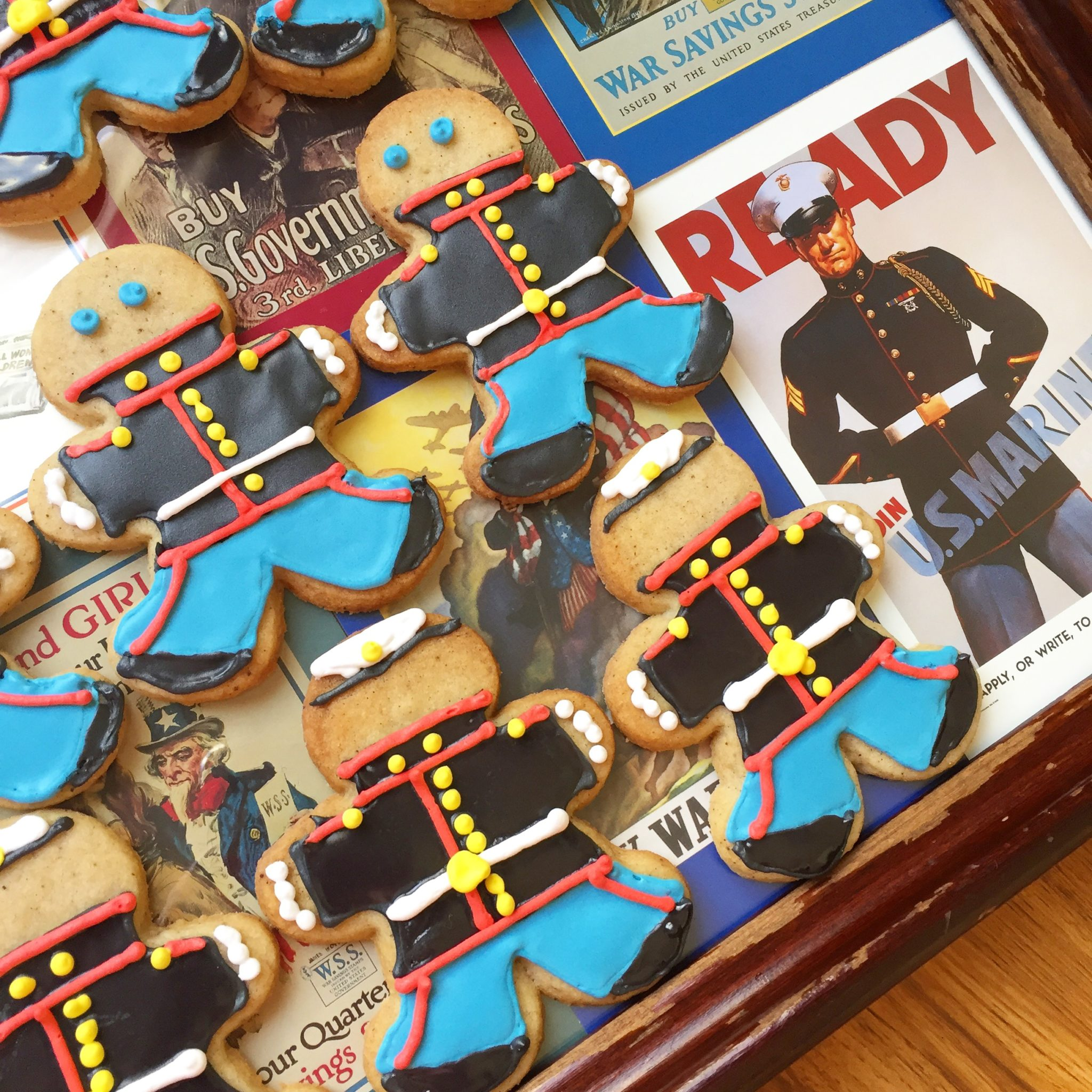 marine dress blue cookies