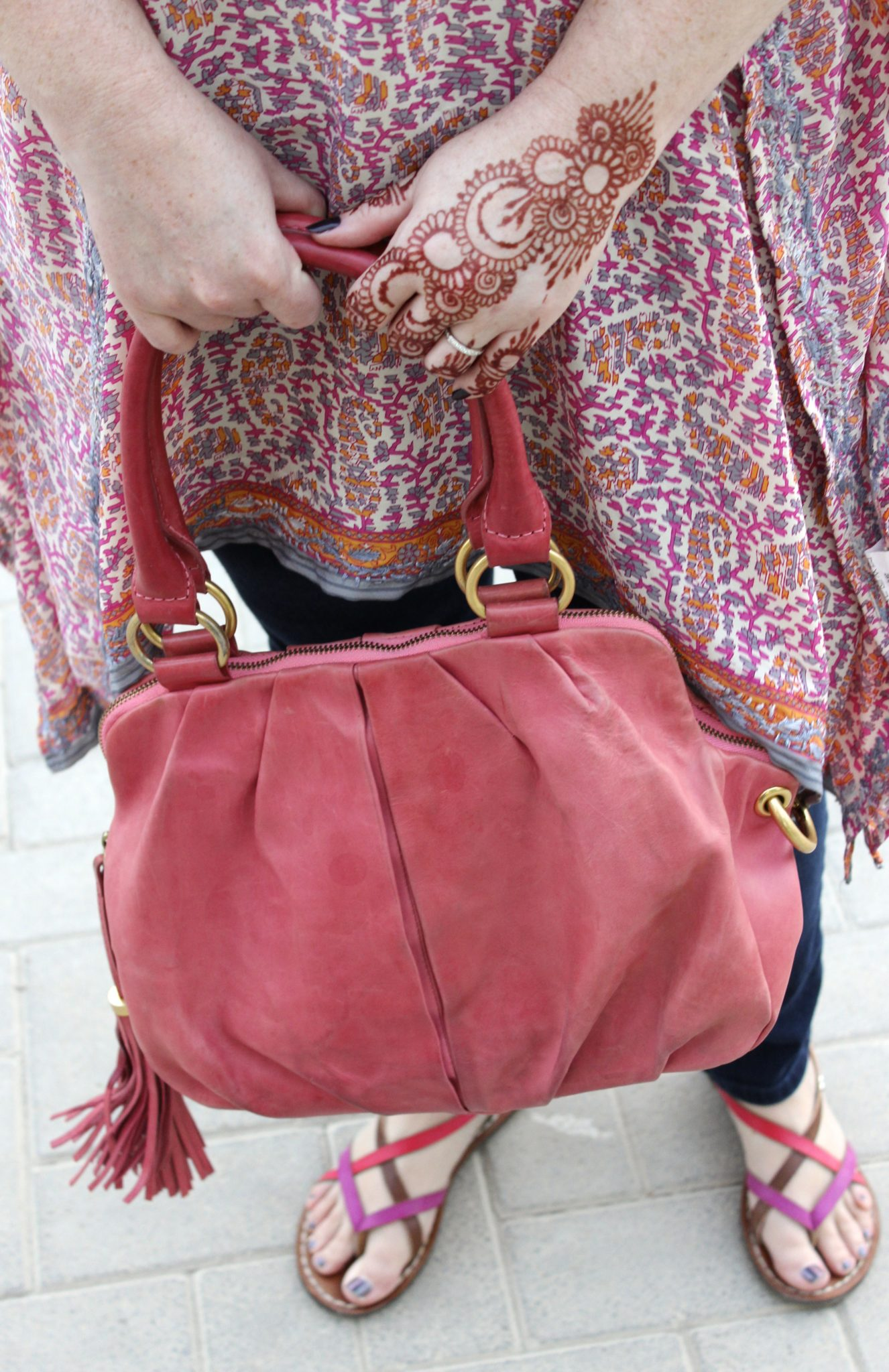 pink bag and tunic
