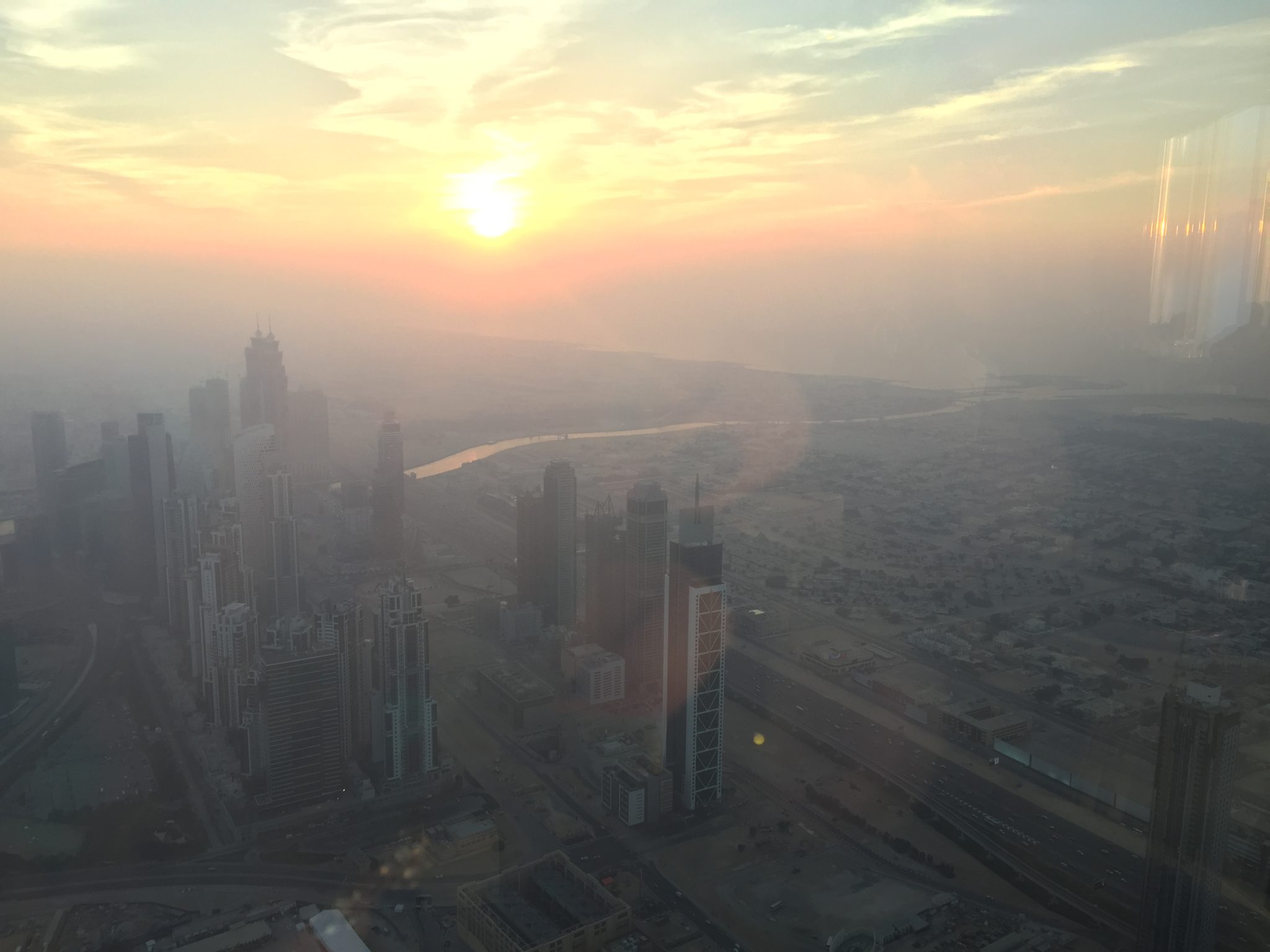 dubai sunset view