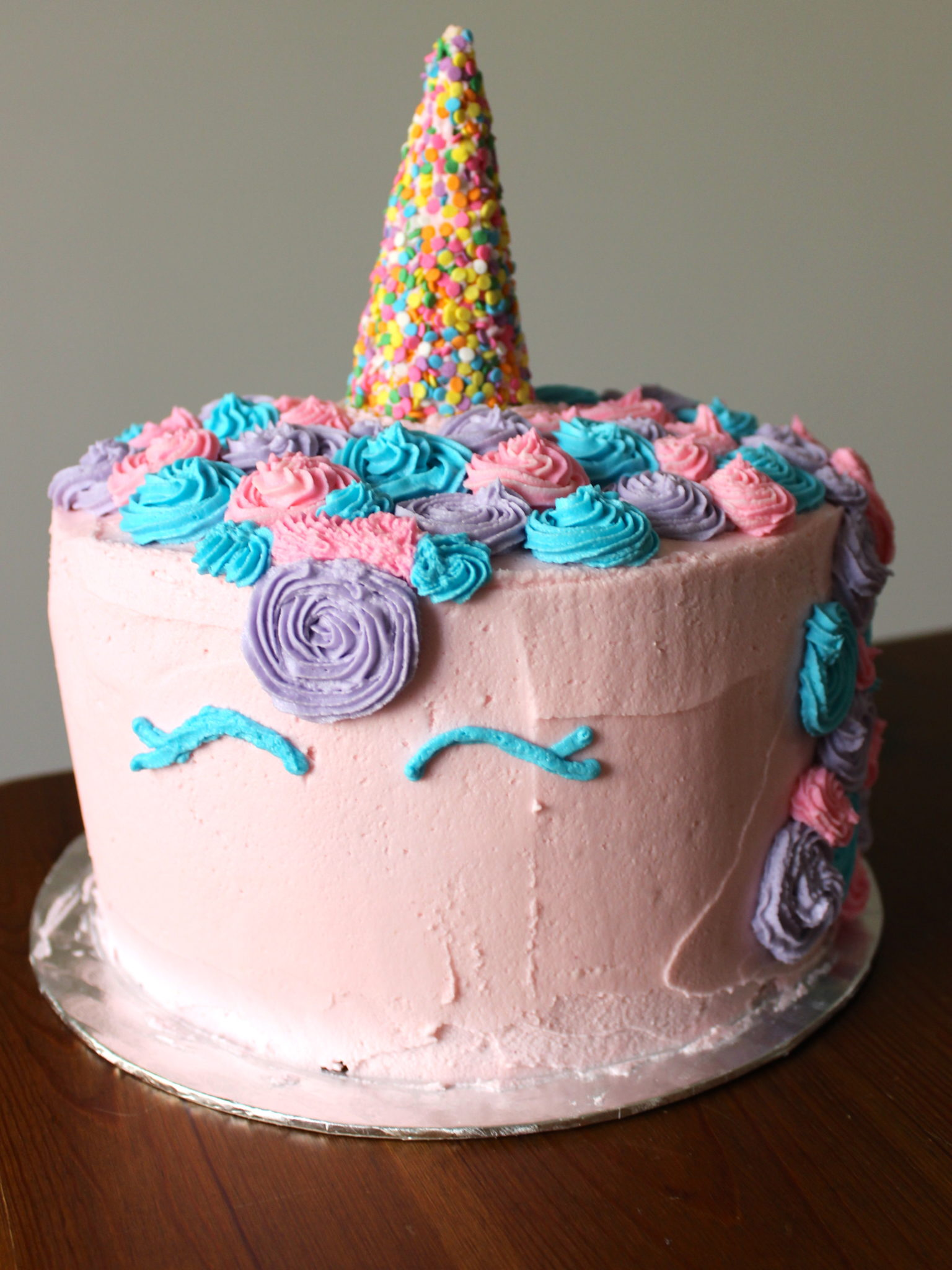 Cake Decorating Without Fondant : How to make a unicorn cake   without fondant ...
