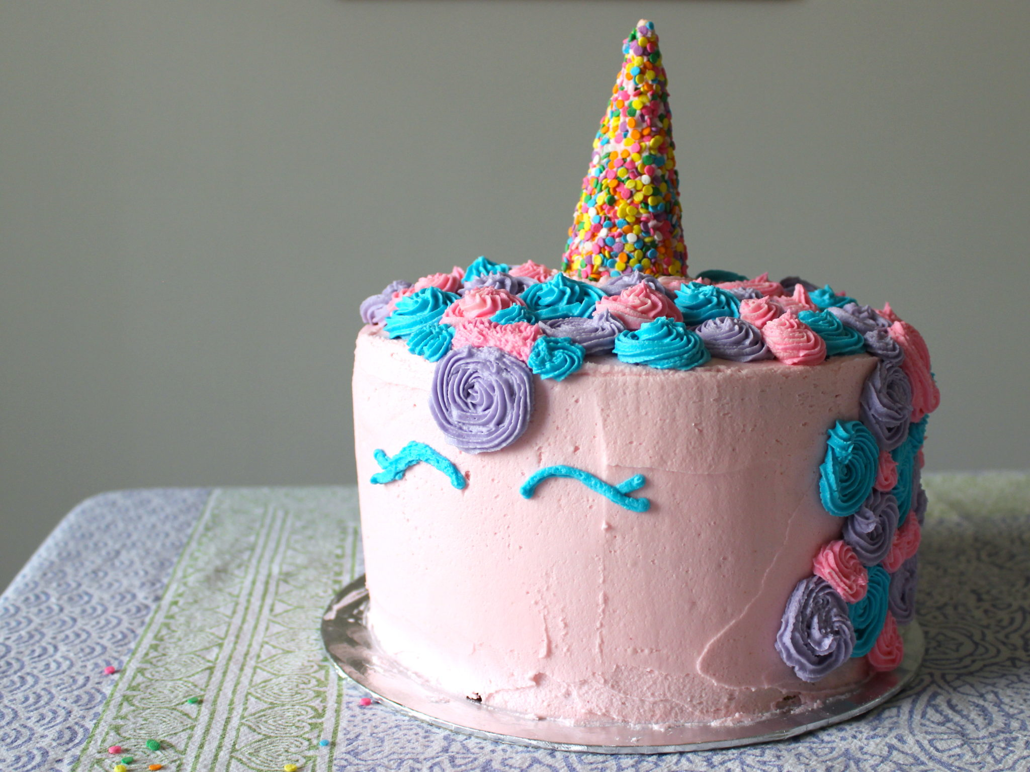 How To Make A Unicorn Cake With No Fondant