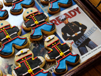 marine dress blues cookies